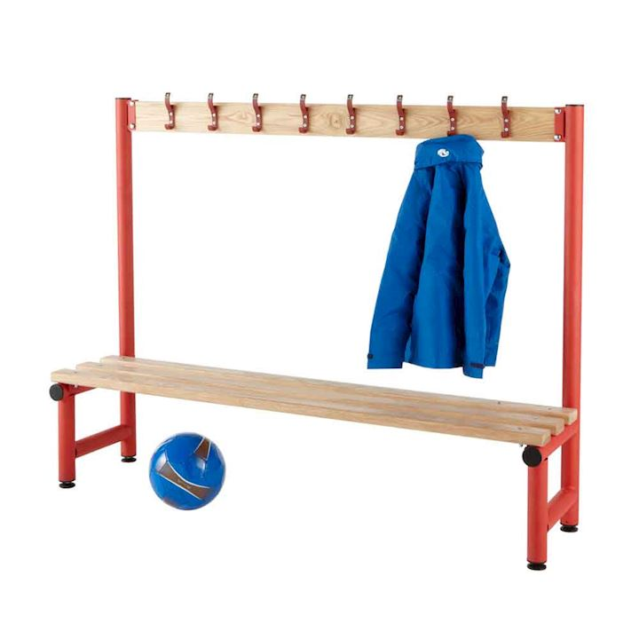 Round Tube Single Sided Hook Bench 1150mm H