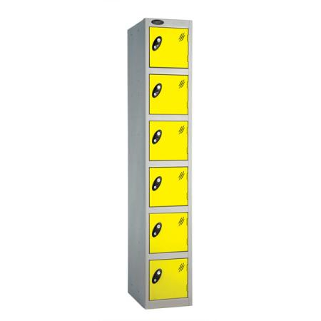 Coloured Six Door Locker