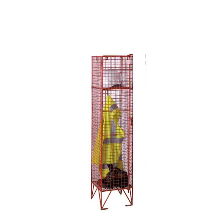 1370mm High Single Door Mesh Lockers