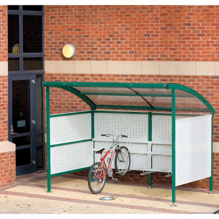 Premier Cycle Shelter  - Perforated Steel