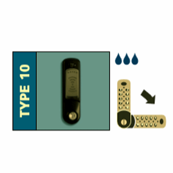Probe Type 10 Wet Area RFID Card/Fob lock