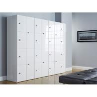 High Gloss Office Lockers - Two Door