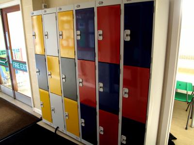 Three Door Lockers At Keelby Primary School