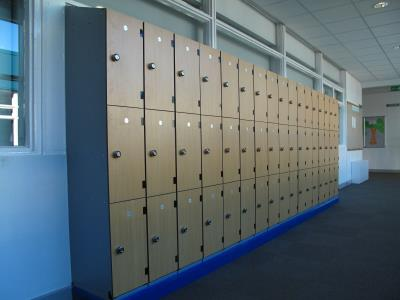 Laminate Lockers at Priesthorpe School