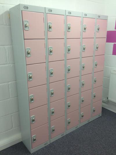 Metal Lockers At Tolworth Gymnastics Club