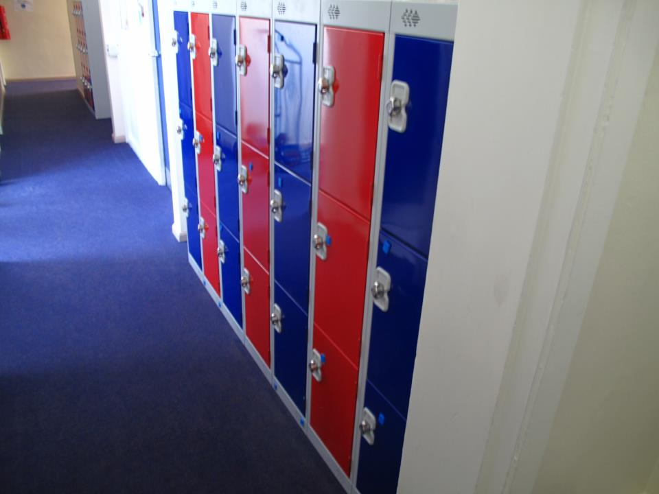 School Three Door Lockers at Elland Junior School