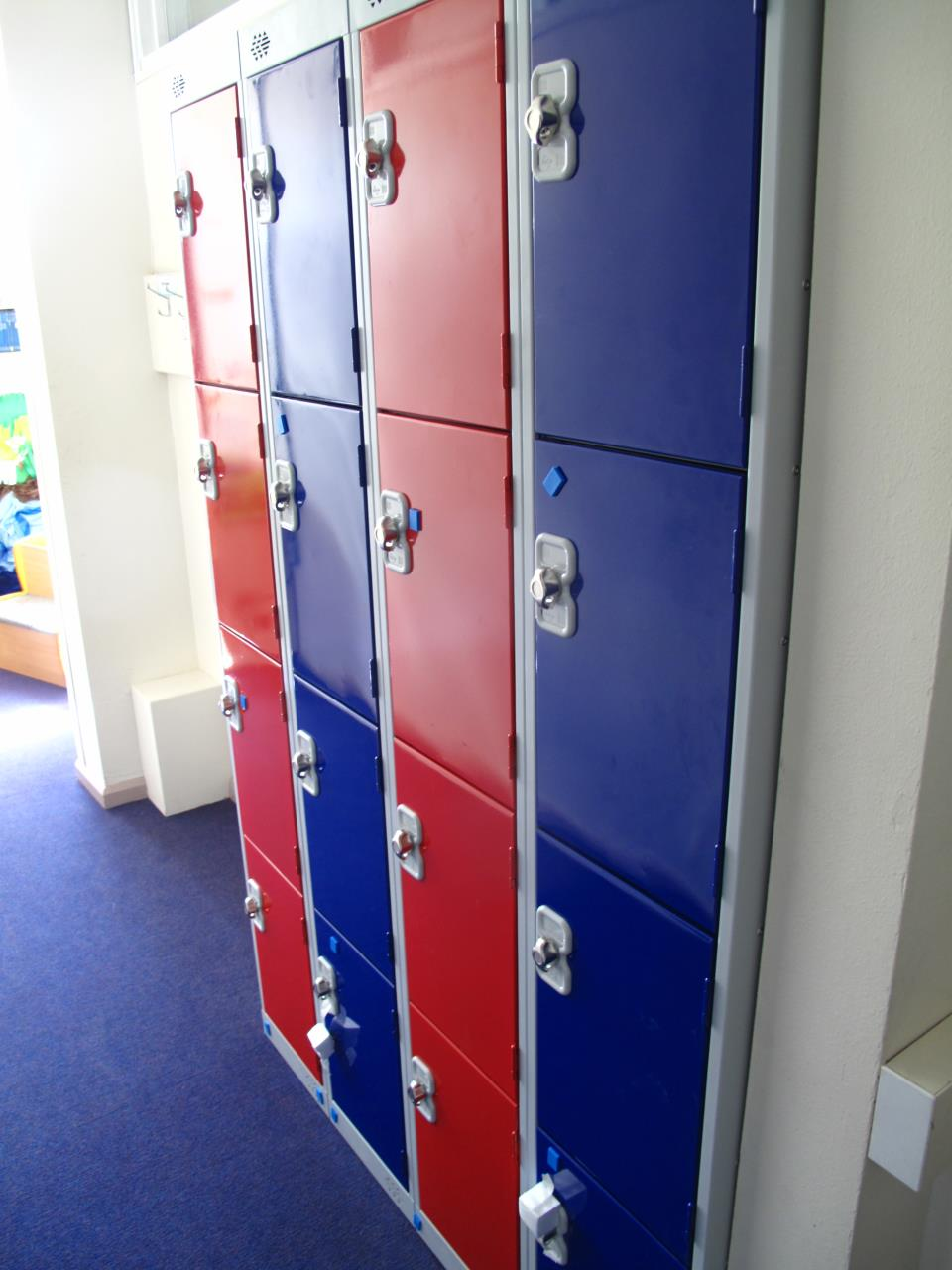 Red and Blue Lockers