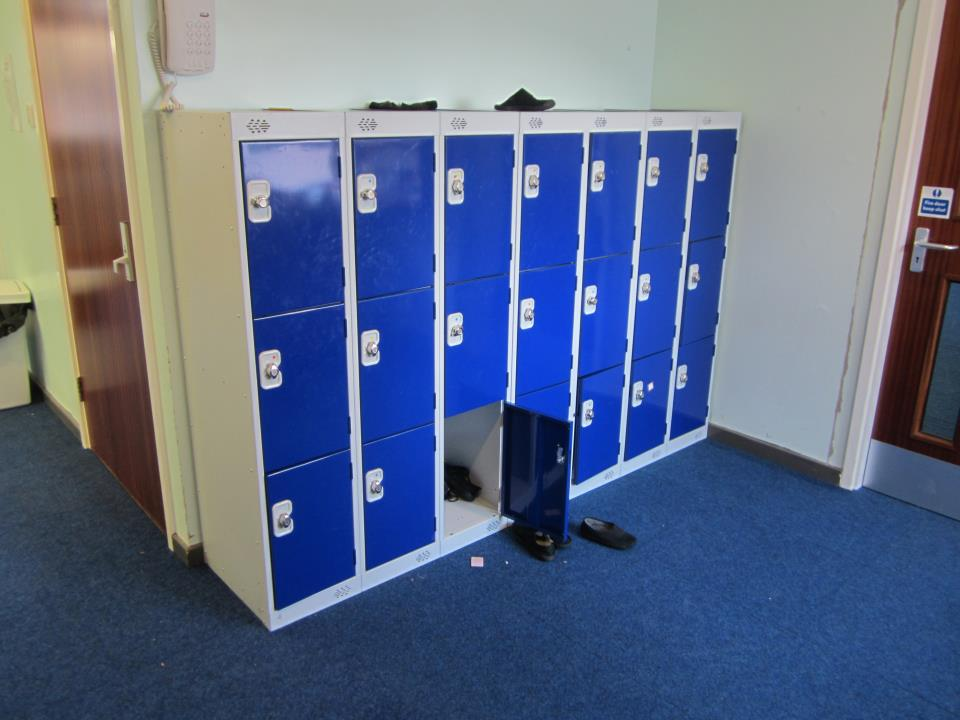 School Low Lockers at Thornhill School, West Yorkshire