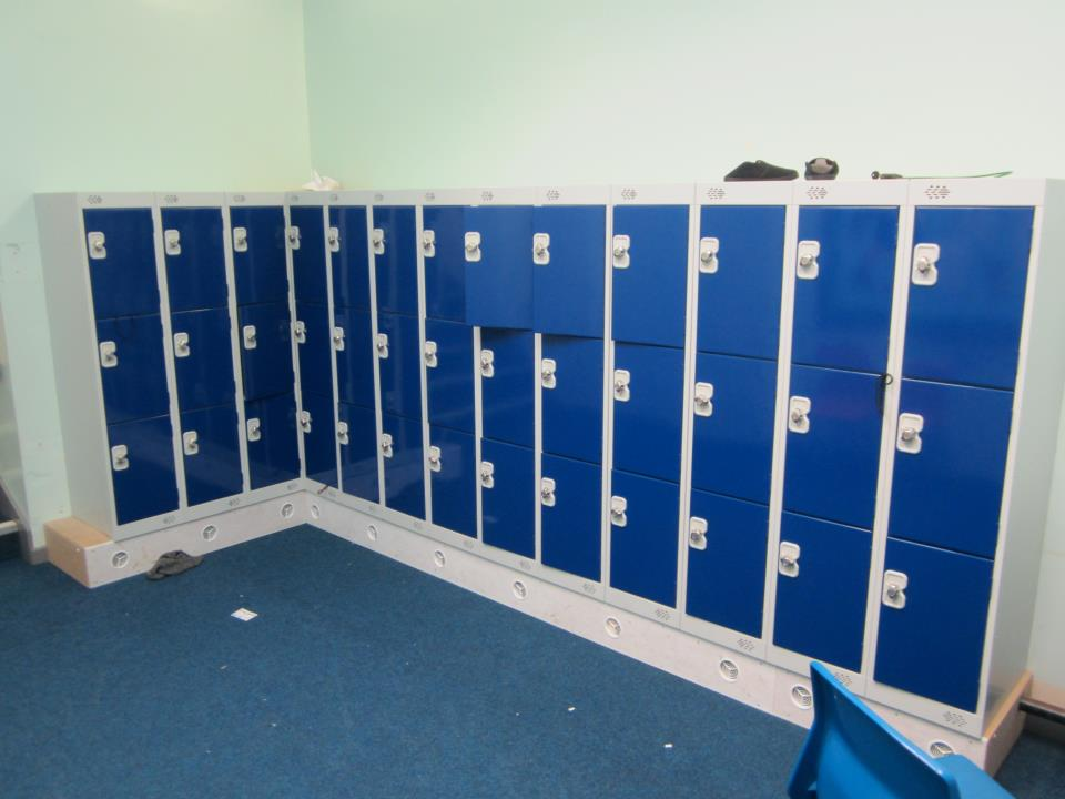 Three Door Low Lockers at Thornhill Junior School