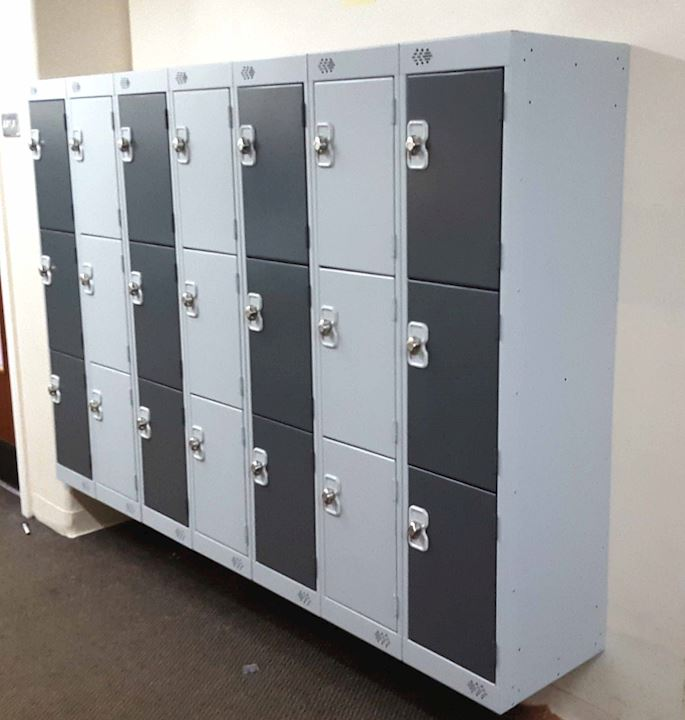 Grey Lockers at Cross Lane Primary School