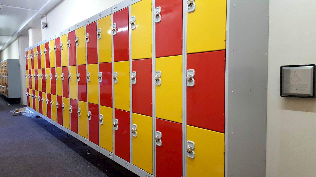 Low Height Lockers at Cross Lane Primary School