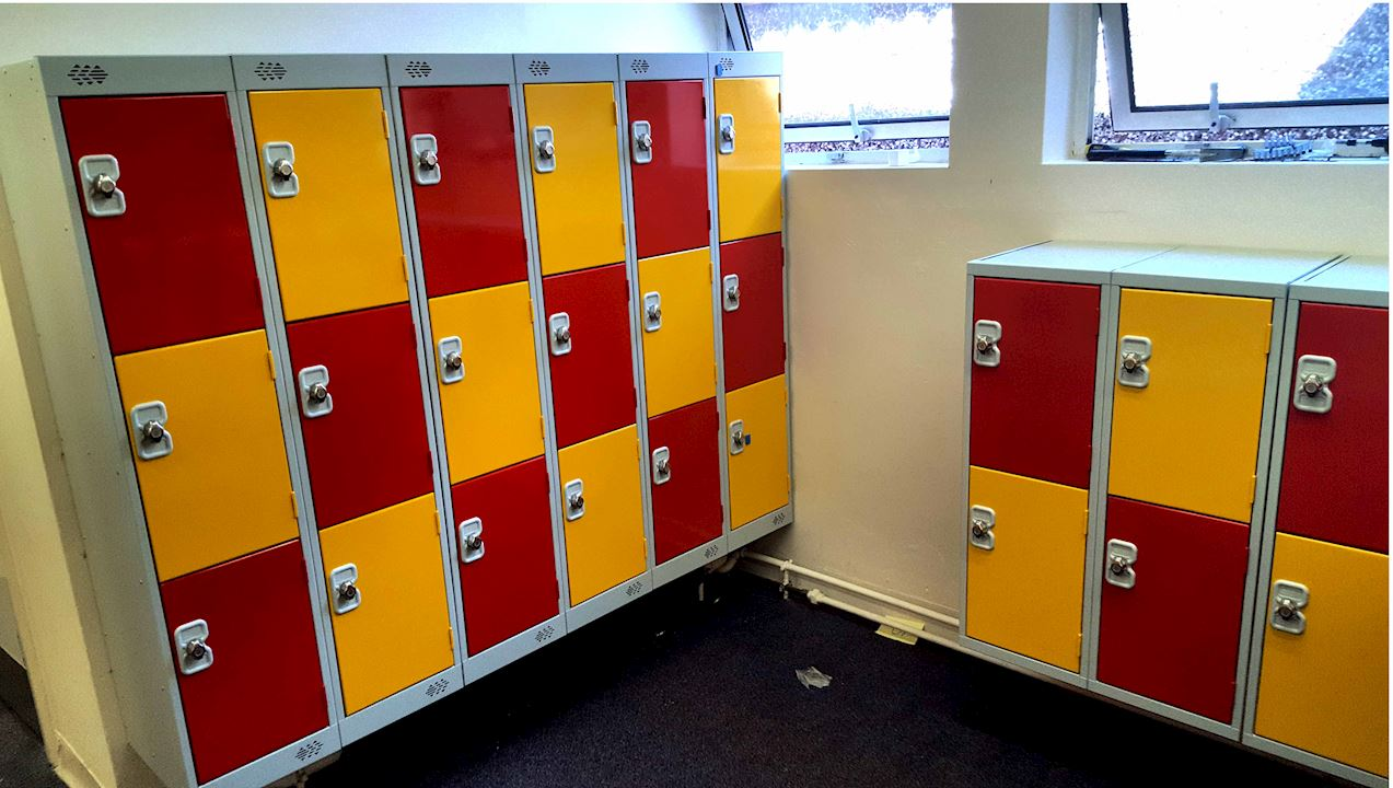 Low Lockers at Cross Lane Primary School