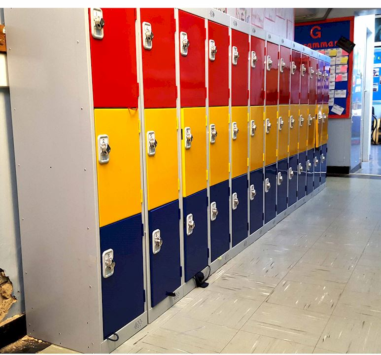 Three Door Primary School Lockers - Barkston Ash