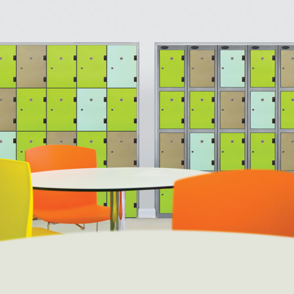 Coloured Laminate Lockers