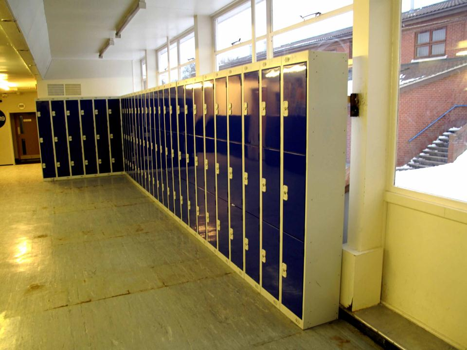 Metal Lockers at Woodkirk Academy