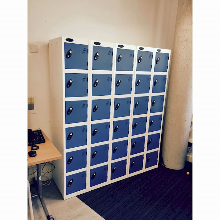 Six Door Probe Lockers at Julians School
