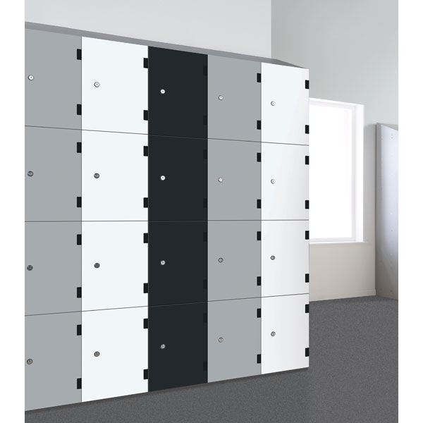 Laminate Lockers Black And White