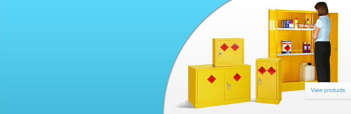 For the safe storage of hazardous substances,