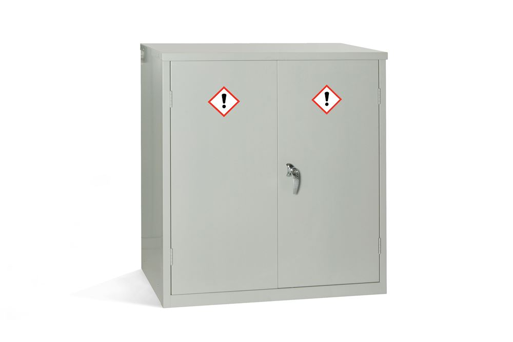 Grey COSHH Cabinet 30 Ltr with 1 Shelf - 1000H x 915W x 457D By Elite