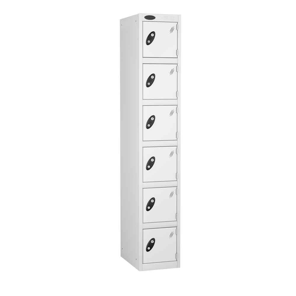 White Locker Six Door