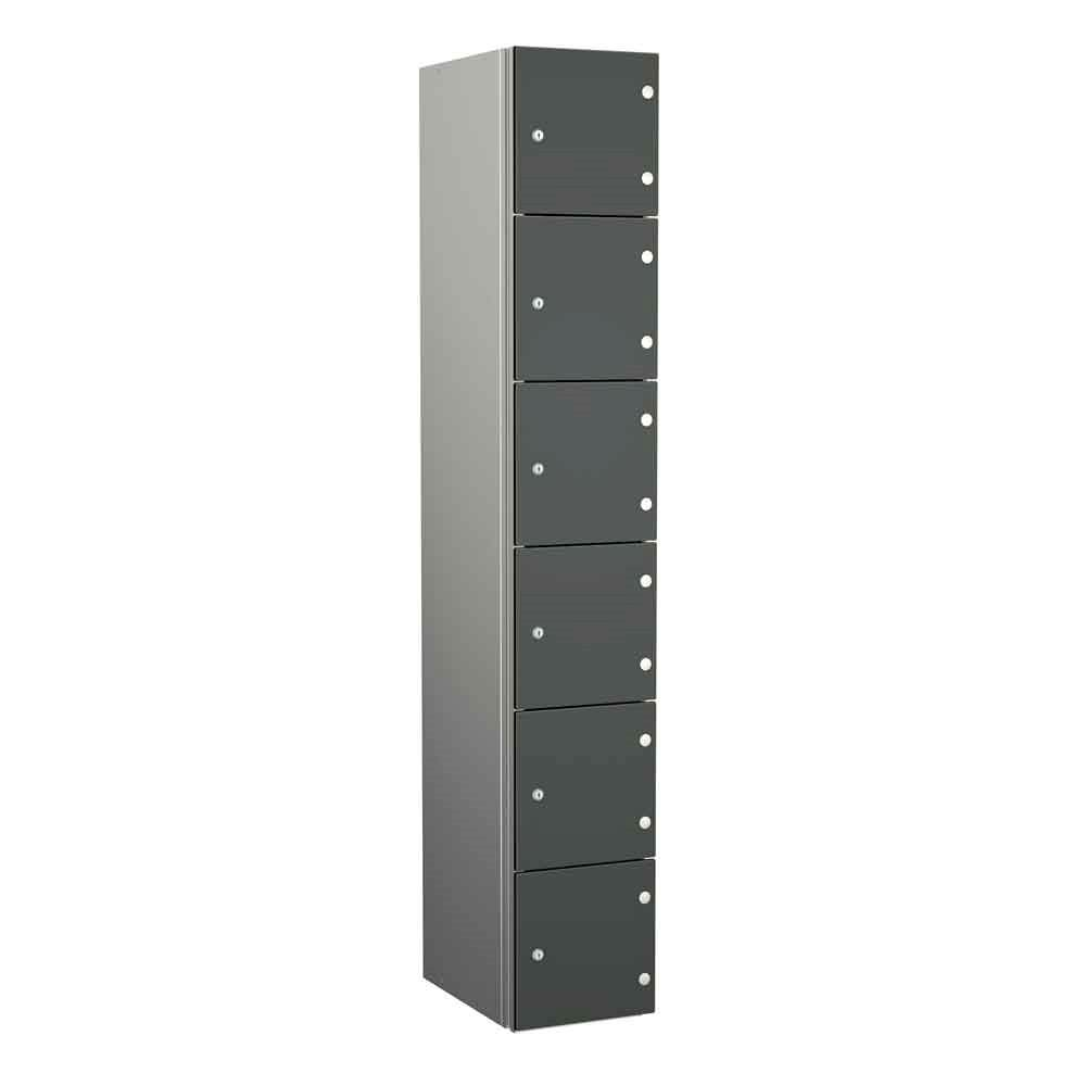 Aluminium Lockers - Zenbox 6 Door 1800H
