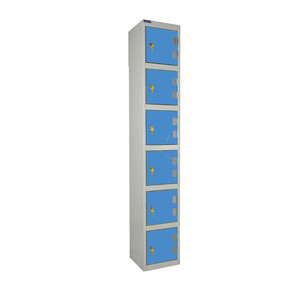 Laminate locker six door dry area 3d lockers for Wood lockers with doors