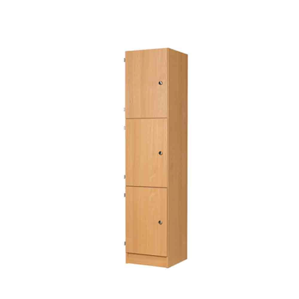 Three Door MDF Laminate Wooden Locker 1800H