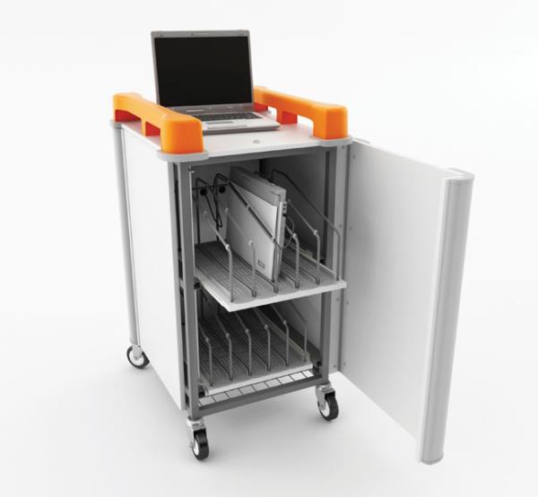 LapCabby Vertical Laptop Store & Charging Trolley