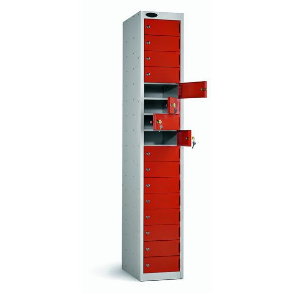 Sixteen Door Metal Locker