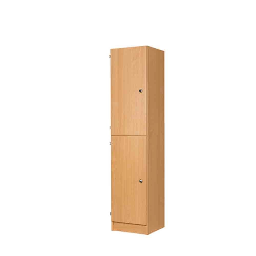 Two door mdf laminate wooden locker 1800h 3d lockers for Wood lockers with doors
