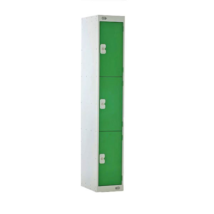 M Series Three Door Metal Locker with Coin Return Lock
