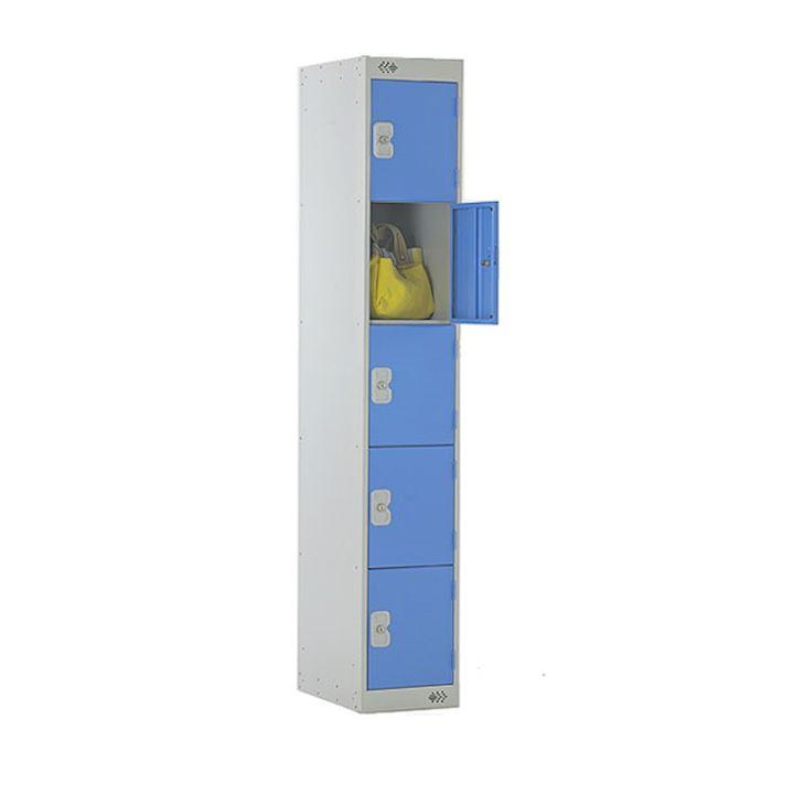 M Series Five Door Metal Locker with Coin Return Lock