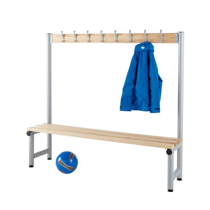Round Tube Single Sided Hook Bench 1350mm H