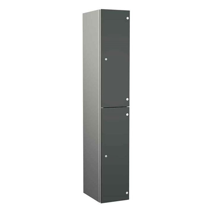 Coin Operated Aluminium Body 2 Door Locker 1800H