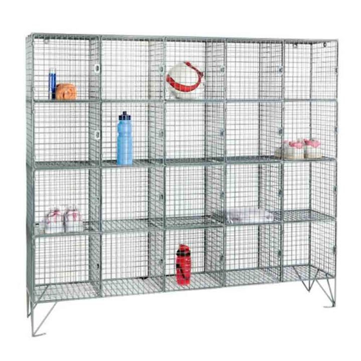 Wire Mesh Locker 20 Compartments 1360H With or Without Doors