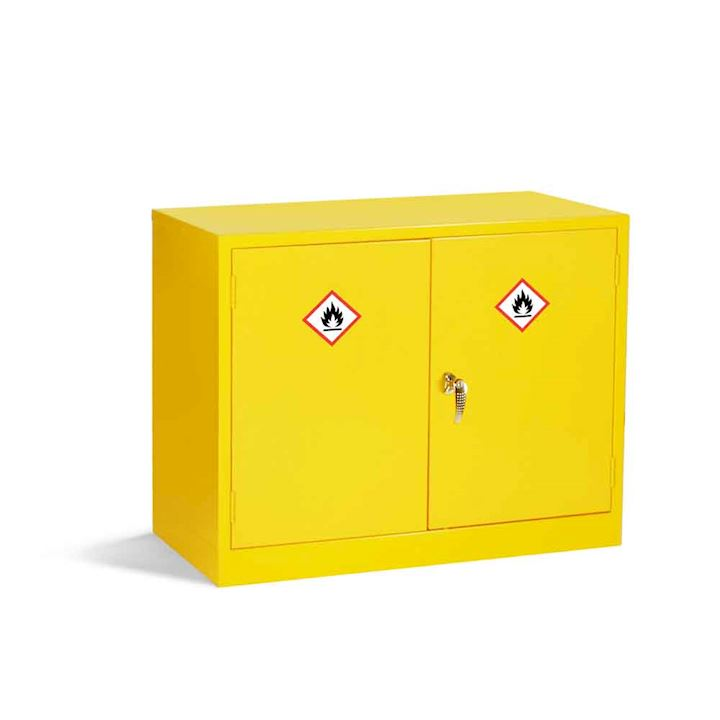 Mini Yellow COSHH Cabinet 610H x 915W x 381D by Elite