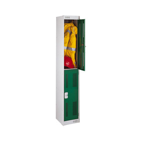 Perforated Two Door Locker