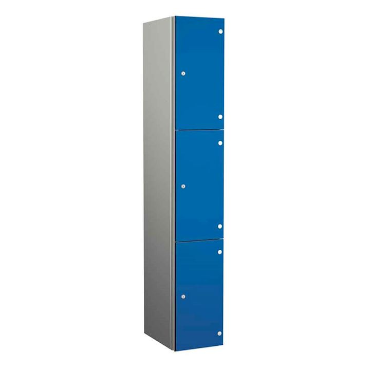 Coin Operated Aluminium Body 3 Door Locker 1800H