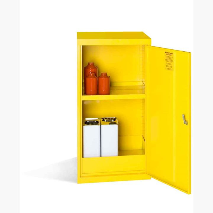 Yellow COSHH Cabinet 910H x 457W x 457D by Elite