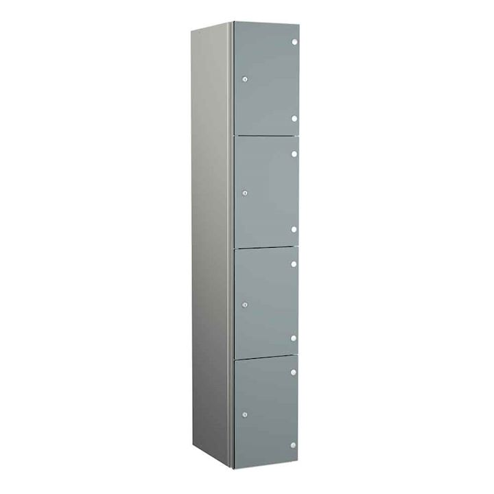 Coin Operated Aluminium Body 4 Door Locker 1800H