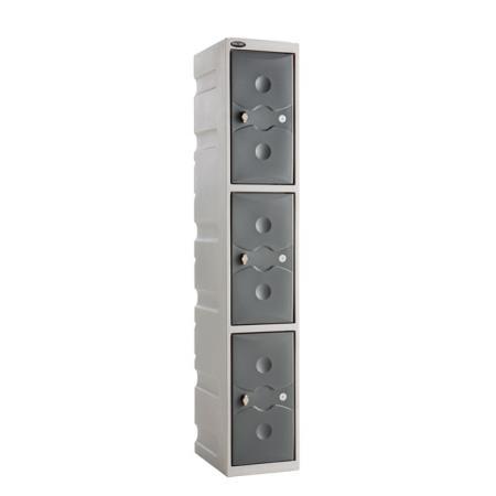 Ultrabox Plastic Lockers Three Door