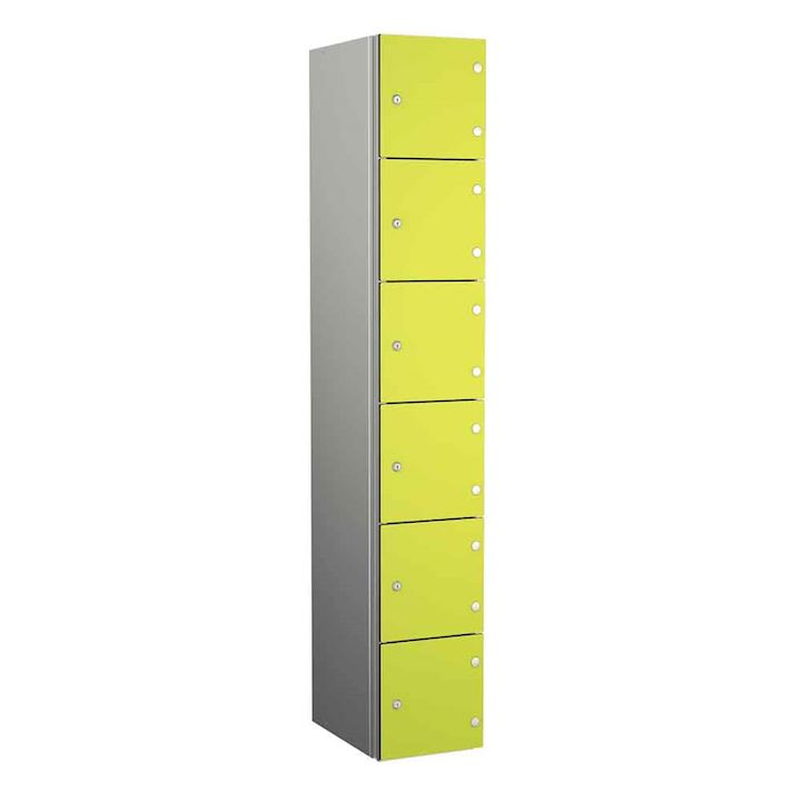 Coin Operated Aluminium Body 6 Door Locker 1800H