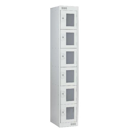 Vision Panel Clear 6 door Lockers