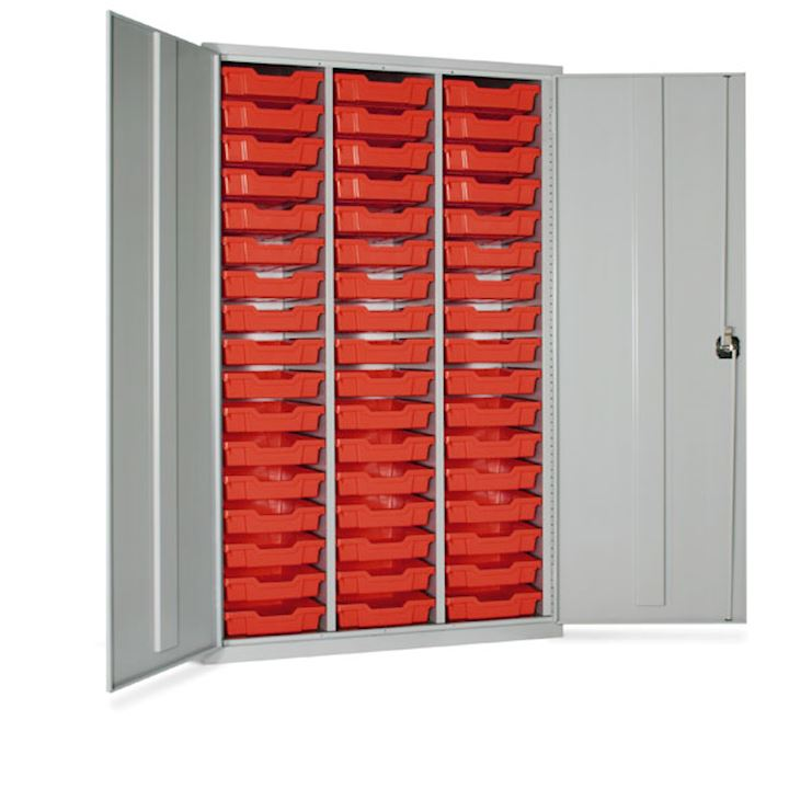 High Capacity Storage Cupboard with 51 Trays