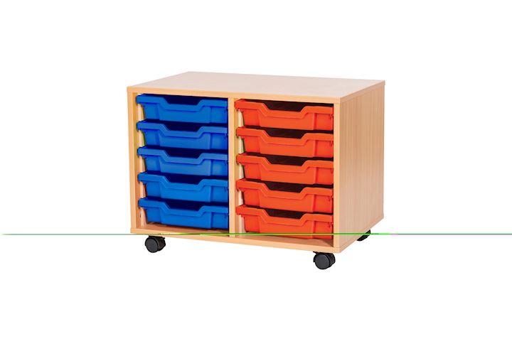 Premium 10 Tray Classroom Storage Cupboard 690W