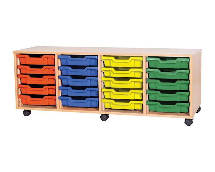 Premium 20 Tray Classroom Storage Cupboard 1358W