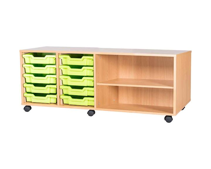 Premium 10 Tray Quad Unit with Shelf