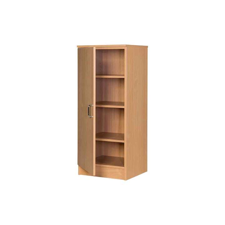 Slim MDF Solid Wood Cupboard - 1200H x 500W x 480D