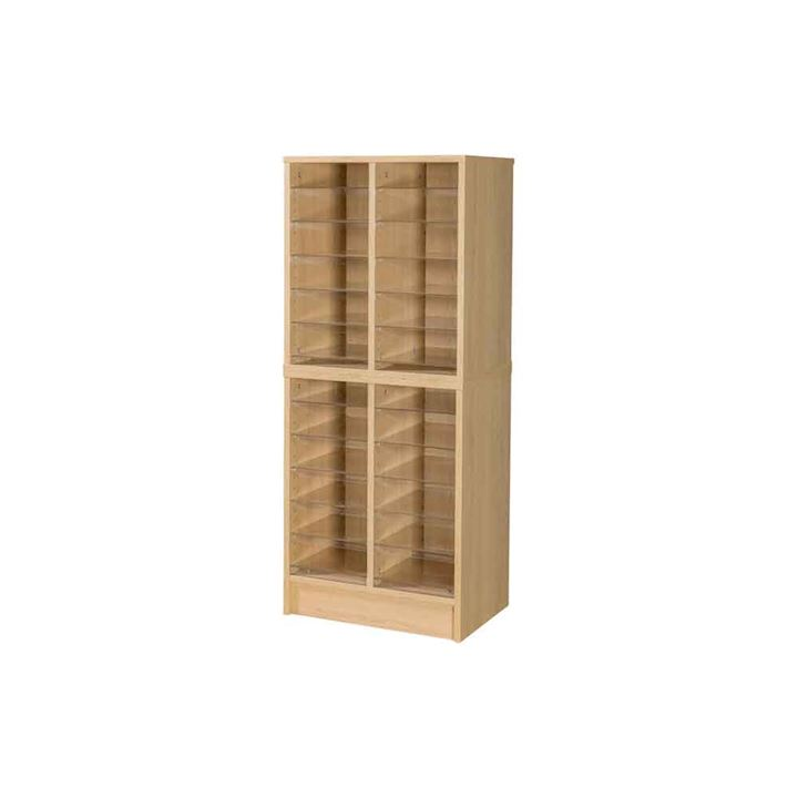 Wooden Pigeonhole Unit with 24 Compartments 1320H x 558W x 375D