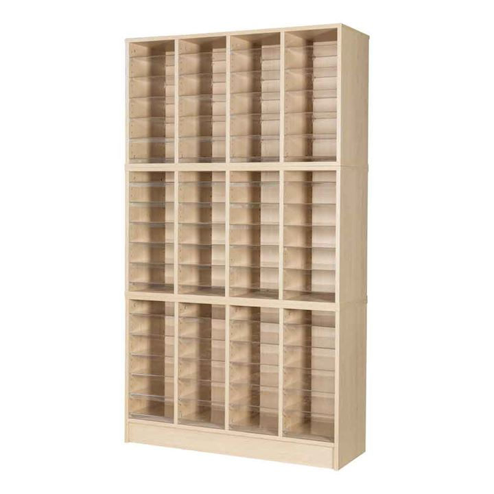Wooden Pigeonhole Unit with 72 Spaces 1930H x 1094W x 375D